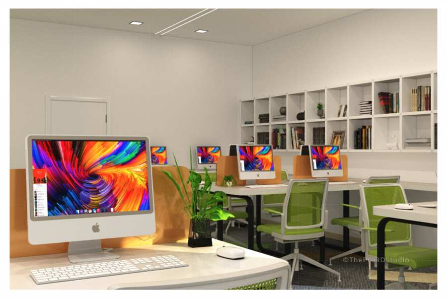 3D Office Interior Rendering