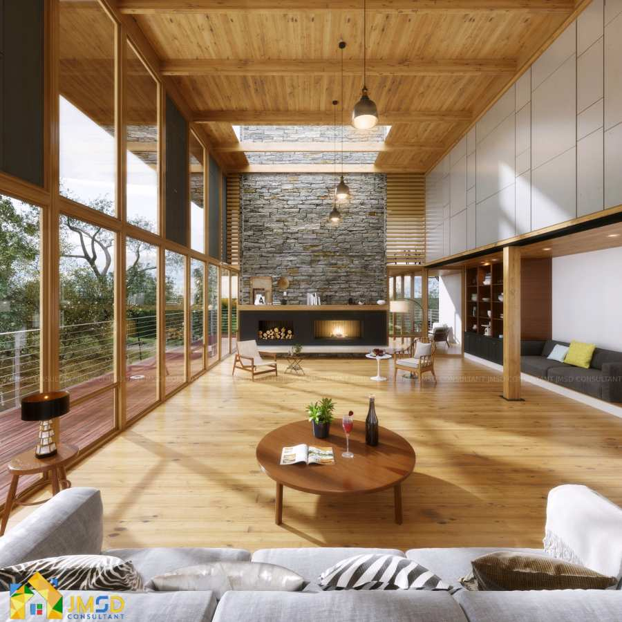 Lake House 3D Rendering Services California Usa