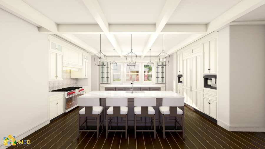 3D Rendering Services California for Amazing Kitchen Interior Design View