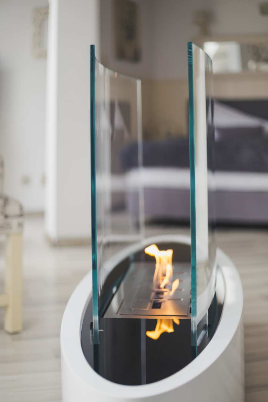 Ellipse floor fireplace...