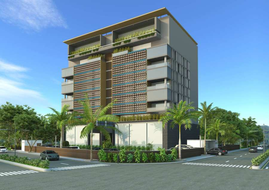 Architectural 3D Exterior Rendering Services for Residential Building Design Project
