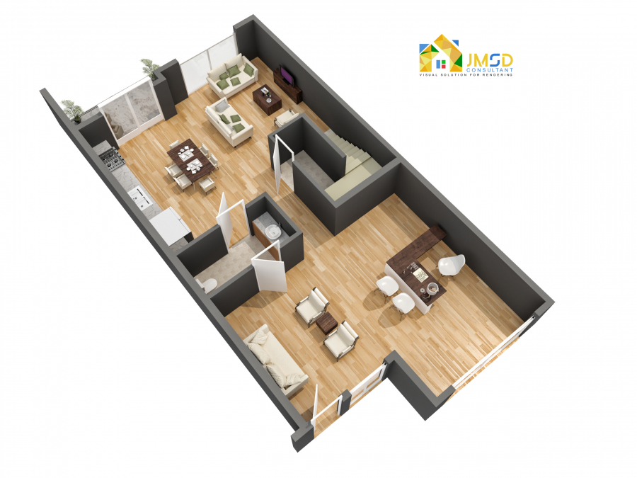 Residential 3D Floor Plan Design Services