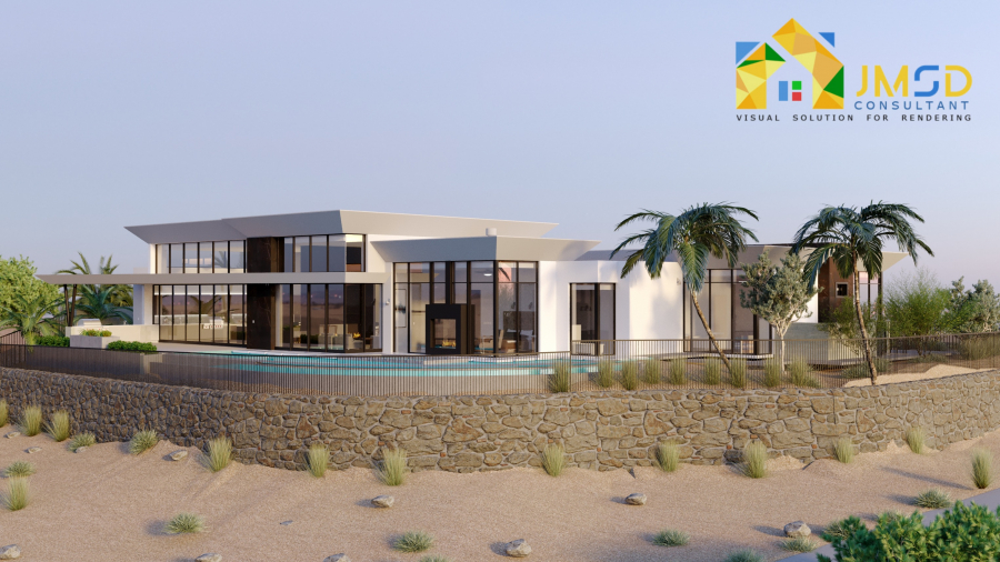 Residential Photorealistic House Rendering Riverside California