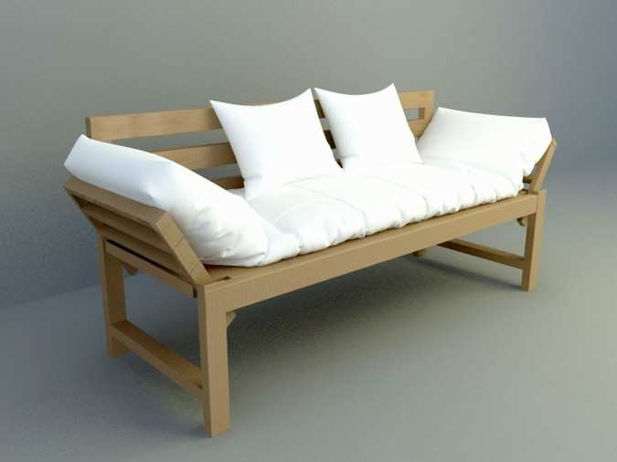 Wooden 3 sitting sofa design