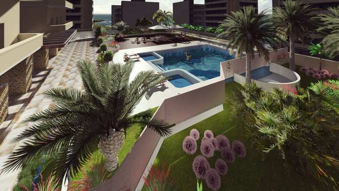 Design of Leisure area of a condominium
