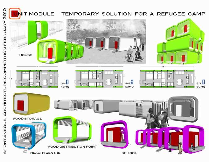 unit module_ temporary solution for a refugee camp