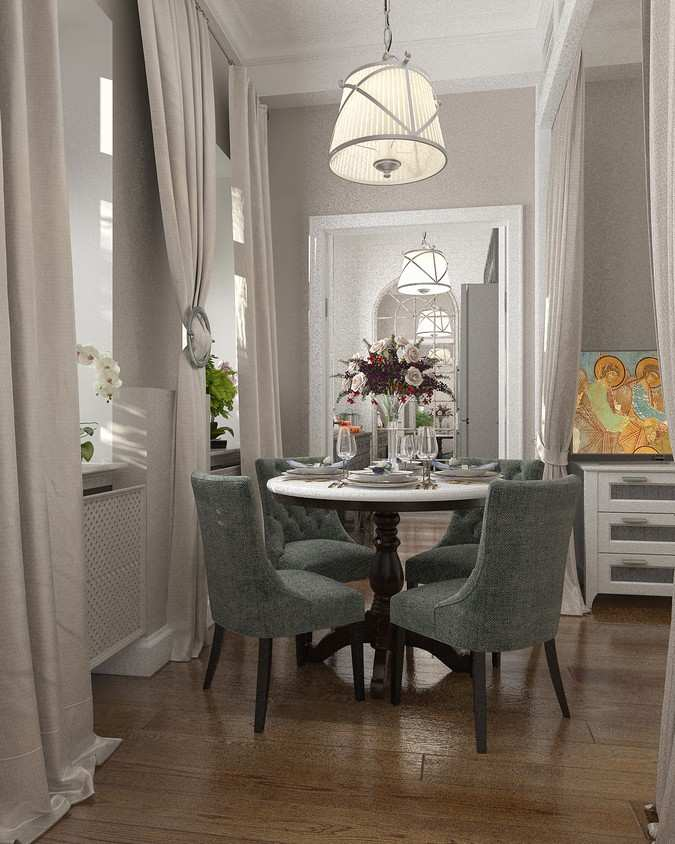 Project of Interiors at private flat at Moscow, Taganskaya street