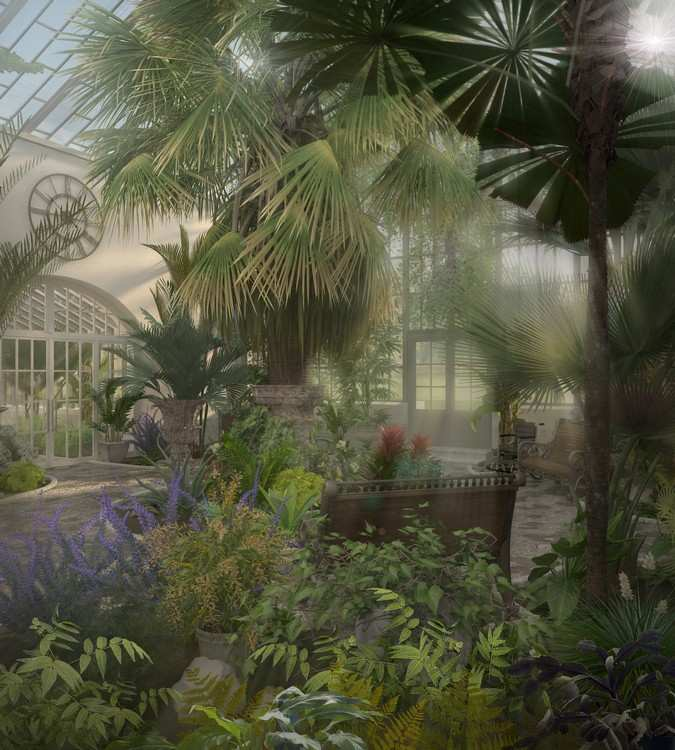 "Refurbishment and architectural artistic reconstruction of Glasshouse Interiors of the Park Ensemble ""Maryino"" of Prince Bariatinsky"
