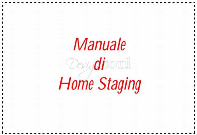 Manuale di HOME STAGING