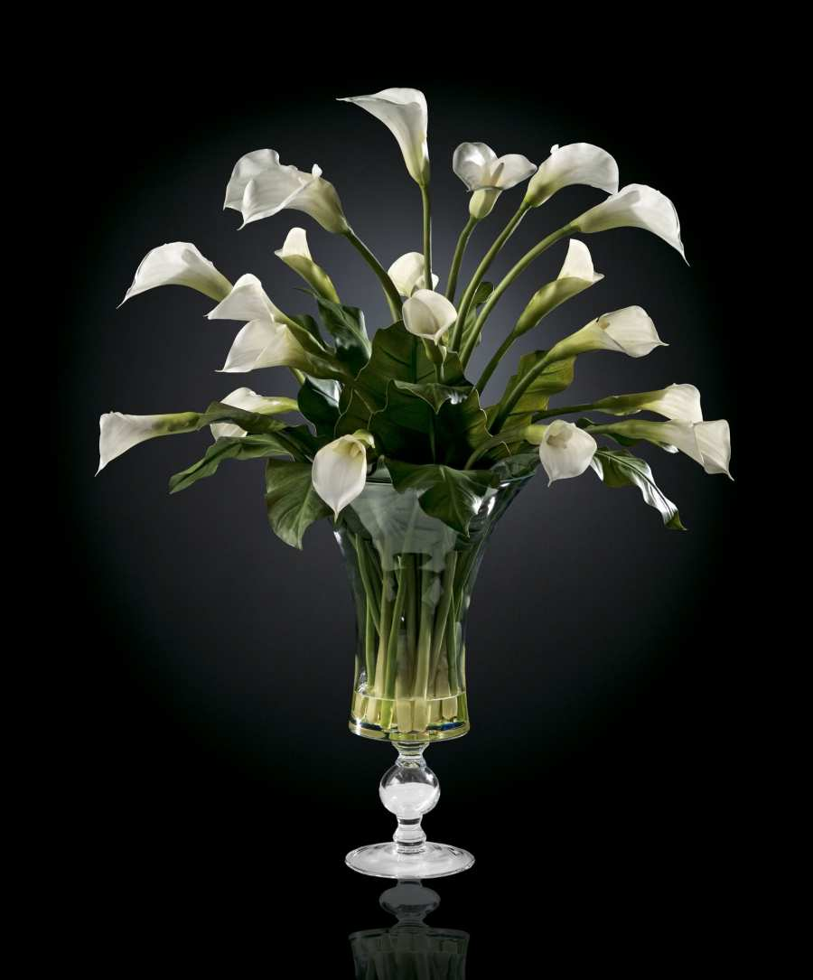 Floral compositions BOWL CALLA 3D Models