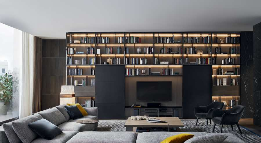 Bookcases Bookcase - Wall System 3D Models