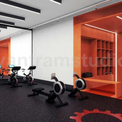 Commercial Fitness GYM 3D