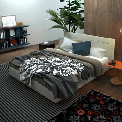 Modern Bedroom 3D Interior Rendering Berlin Germany