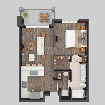 Photorealistic House Floor Plan Rendering Services