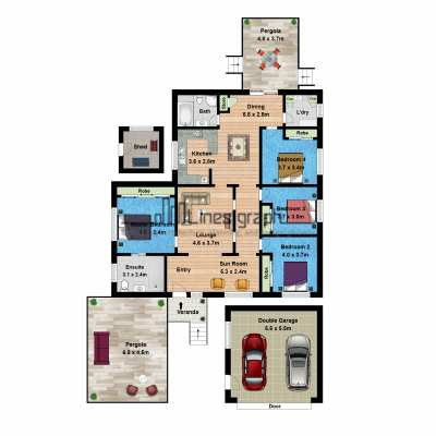 2D Textured Floor Plan by Linesgraph (1)