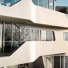 CityLife residences in Milan. Triple skin facades by Zaha Hadid: aluminium, wood and glass.